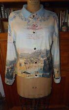 Impulse California Cute Vintage Print Italia Shirt/Jacket, SZ M, EUC, Flawless!