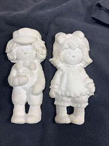 """Raggedy Ann & Andy Doll Set  Ceramic Bisque Ready to Paint 7"""""""