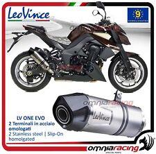 Leovince LV ONE Evo escape acero aprobado para Kawasaki Z1000 2010>2016