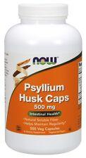 Now Foods Psyllium Husk Caps, 500 mg, 500 Veg Capsules - Fiber Supplement