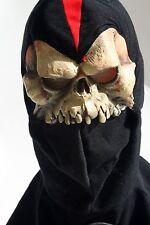 2004 Mario Chiodo Studios Skeleton Ninja Halloween Mask & Hood Skeletor Prop
