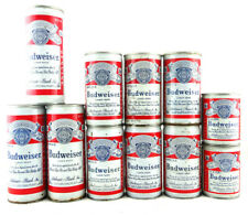 Budweiser Beer Can Lot Qty. 11 Pull Tab Opened Pre-owned 8 oz 12 oz Pint