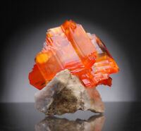 Arcanite crystals on matrix from Poland orange like imperial topaz or wulfenite