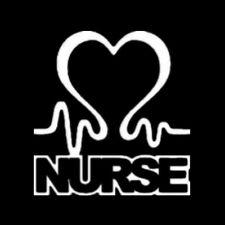 Nurse Heart Car Sticker  Window door Wall Bumper Decor Gift Symbol Vinyl Decal