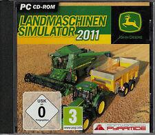 PC-CD-ROM John Deere Landmaschinen-Simulator 2011 (PC, 2011, Jewelcase)
