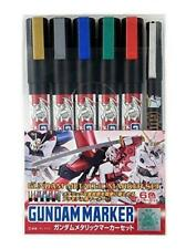MR Hobby Gundam Marker HG MG RG PG GMS121 Metallic Marker Set Paint Color
