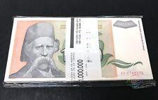 YUGOSLAVIA 10,000 10000 Dinara X 100 PCS, Full Bundle, 1993, P-129, UNC