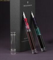 New Moonman C1 Eye Dropper Fountain Pen Acrylic Fully Transparent Large-Capacity