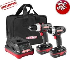 Craftsman C3 19.2V Cordless 1/2in Drill And Impact Driver Tools Combo Kit Bundle