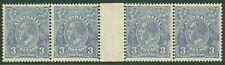 Australia : 1932. Stanley Gibbons #128 Gutter Strip of 4. Very Fine, Mint Og H.