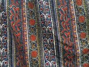 """Vintage Liberty Of London Curtains 78"""" Drop, Navy, Red, Heavy"""