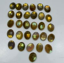 AAA QUALITY 15 PC NATURAL LABRADORITE OVAL 8X10 MM ROSE CUT LOOSE GEMSTONE 40 CT