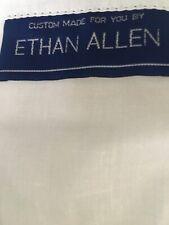 Ethan Allen Custom Made Box Pleat Split Corners Queen Brown Plaid Bedskirt