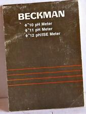 BECKMAN MANUAL FOR 10PH, 11PH, AND 12PH/ISE METERS, 015-245500-A