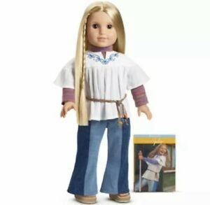 """NEW American Girl Doll 18"""" Julie Albright & Book RETIRED 1st Edition"""