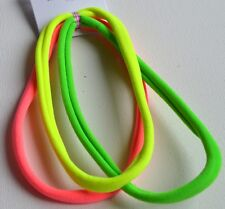 NEW 3 in a pack Neon pink green yellow soft stretch headband bandeaux hair sport