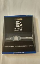 POWER BALANCE Wristband Bracelet silver/ clear Size L 20.5cm Silicone brand new