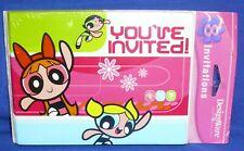 American Greetings Cartoon Network The Powerpuff Girls Party Invitations 8 ct
