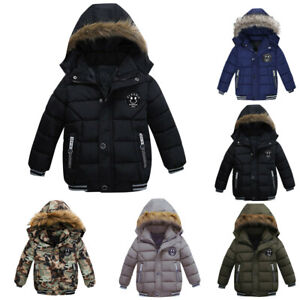 Baby Boys Coat Children Winter Jacket Outwear Kids Jacket Warm Hooded Clothes AU