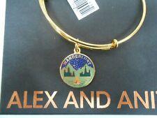 Alex and Ani WANDERLUST Bangle Bracelet Shiny Gold New With Tag Box Card