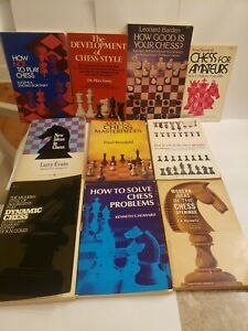 Lot Of 9 Classic Chess Books