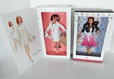 Vintage Barbie Dolls City Shopper Nicole Miller Dooney & Bourke Pink Label NRFB