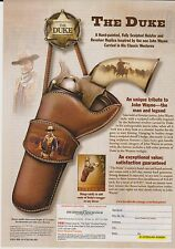 2011 Mint Print Ad Poster The Duke Holster Revolver Replica John Wayne Westerns