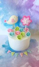 Edible Bird Roses Name Cake Toppers For First Birthday Cake Christening Cake