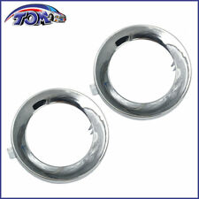 Pair Of Chrome Fog Light Lamp Ring Cover Trim For Subaru Forester 2009-2013
