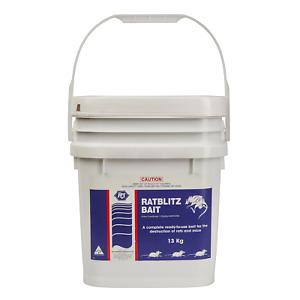 Rat Blitz 13Kg - Premium Bait - Rat & Mouse Poison - Rodenticide