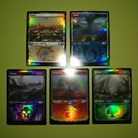 FOIL SHOWCASE Basic Land 1 of Each Type Core Set 2021 Magic the Gathering MTG