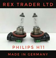 2 * Original Philips H11 Bulbs Halogen Clear Light, 12V 55W Made in Germany.