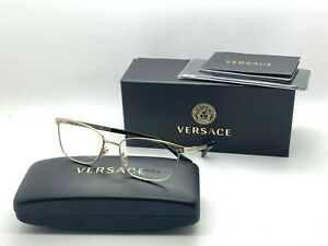 New authentic VERSACE Womens Eyeglasses VE1262 1252 GOLD 52-16-140MM NIB