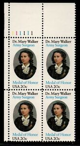 ALLY'S STAMPS US Plate Block Scott #2013 20c Dr. Mary Walker [4] MNH [STK]