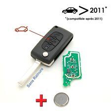 Clé + électronique à programmer Peugeot 207 307 3 bouton coffre sans rainure