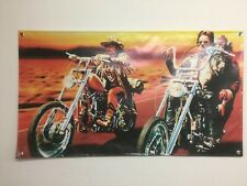EASY RIDER vinyl BANNER 2X4 FT harley davidson motorcycle Film Art GARAGE SHOP