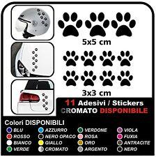 11 zampette adesive ADESIVI PER AUTO MOTO CASCHI - 3 adesivi 5X5  8 adesivi 3X3