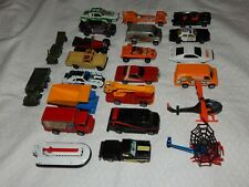 Vintage Lot of 23 Various 1970's-80's Diecast Vehicles (ERTL,Corgi,Kenner, etc.)