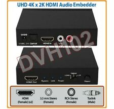DVI HDMI Audio Embedder + Audio To HDMI Encoder