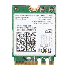 Intel 7260NGW Wireless-AC Dual Band 867M 802.11ac WIFI+Bluetooth 4.0 NGFF Card