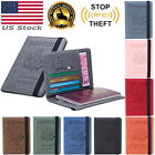 Slim PU Leather Travel Passport Wallet Holder RFID Blocking ID Card Case Cover