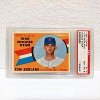 1960 Topps #117 Tom Borland Boston Red Sox Rookie Star PSA 8 NM-MT