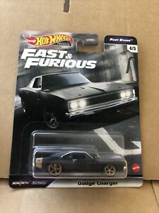 HOT WHEELS PREMIUM DIECAST -Fast & Furious- Dodge Charger - 4/5 - New