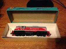 HO SCALE ATHEARN CHICAGO BURLINGTON & QUINCY RR ROUTE EMD GP9 LOCOMOTIVE TRAIN