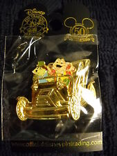 Golden Vehicle Mr Toads Wild Ride with Mr Toad & Mole Disney Pin