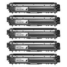 5PK Brother TN221 Black Toner Cartridge HL-3140CW HL-3170DW MFC-9130CW TN-221B