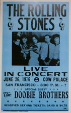 """The Rolling Stones Concert Poster - 1976 w/ the Doobie Brothers - 14""""x22"""""""