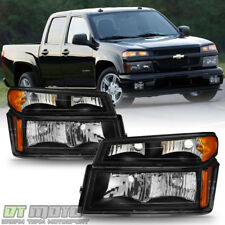 Blk 4pc 2004 2017 Chevy Colorado Canyon Headlights Corner Lights Parking Lamps