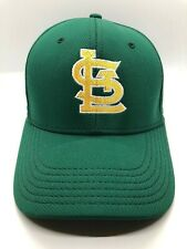 St Louis Cap Hat Men Fitted S-M Green Yellow Polyester Pacific Headwear