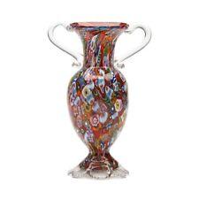 VINTAGE ITALIAN FRATELLI & TOSO MILLEFIORI GLASS VASE 20 C.